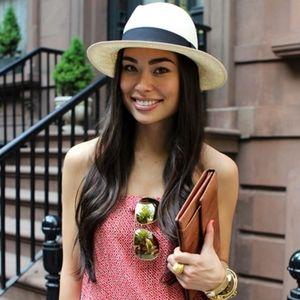 J.CREW Woven Raffia Panama Hat